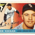 1955 Topps baseball card #10 Bob Keegan VG+ Chicago White Sox