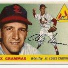 1955 Topps baseball card #21 (B) Alex Grammas EX St. Louis Cardinals