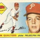 1955 Topps baseball card #33 Tom Qualters Ex Philadelphia Phillies