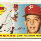 1955 Topps baseball card #33 (B) Tom Qualters good Philadelphia Phillies