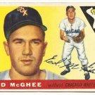 1955 Topps baseball card #32 Ed McGhee VG Chicago White Sox