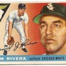 1955 Topps baseball card #58 (B) Jim Rivera good Chicago White Sox