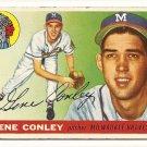 1955 Topps baseball card #81 Gene Conley G/VG Milwaukee Braves