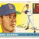 1955 Topps baseball card #72 Karl Olson good Boston Red Sox