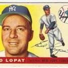 1955 Topps baseball card #109 (B) Ed Eddie Lopat G/VG New York Yankees