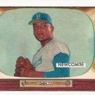 1955 Bowman baseball card #143 Don Newcombe EX