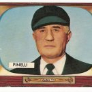 1955 Bowman baseball card #307 R.A. Babe Pinelli EX