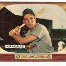 1955 Bowman baseball card #186 Alex Grammas F/G