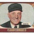1955 Bowman baseball card #275 Bill William Grieve EX