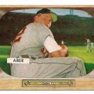 1955 Bowman baseball card #24 (B) Al Aber EX