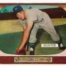 1955 Bowman baseball card #69 Bill Hunter VG