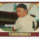 1955 Bowman baseball card #109 Vern Stephens EX