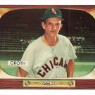 1955 Bowman baseball card #117 Johnny Groth EX