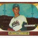 1955 Bowman baseball card #120 Ed Burtschy G+