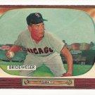 1955 Bowman baseball card #151 (C) Jim Brideweser EX