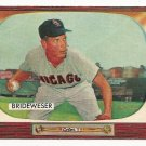 1955 Bowman baseball card #151 (D) Jim Brideweser EX/NM