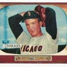 1955 Bowman baseball card #148 (C) Bob Chakales EX