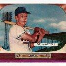 1955 Bowman baseball card #176 (B) Joe De Maestri NM (miscut)