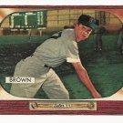 1955 Bowman baseball card #221 (D) Hector Skinny Brown EX