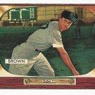 1955 Bowman baseball card #221 (E) Hector Skinny Brown EX