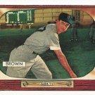 1955 Bowman baseball card #221 (F) Hector Skinny Brown EX/NM