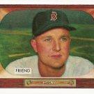 1955 Bowman baseball card #256 (B) Owen Friend EX (rough cut edges)
