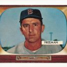 1955 Bowman baseball card #290 Hershall Freeman VG