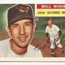 1956 Topps baseball card #286 Bill Wight VG+ Baltimore orioles