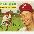 1956 Topps baseball card #269 Jack Meyer VG (several light creases) Philadelphia Phillies