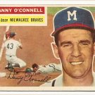 1956 Topps baseball card #272 Danny O'Connell VG Milwaukee Braves