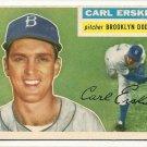 1956 Topps baseball card #233 Carl Erskine VG/EX Brooklyn Dodgers