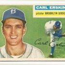 1956 Topps baseball card #233 (C) Carl Erskine EX Brooklyn Dodgers