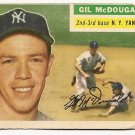 1956 Topps baseball card #225 (C) Gil McDougald poor New York Yankees