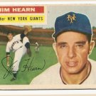 1956 Topps baseball card #202 (B) Jim Hearn G/VG New York Giants