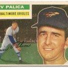 1956 Topps baseball card #206 Erv Palica VG/EX Baltimore orioles