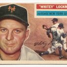 1956 Topps baseball card #205 Whitey Lockman VG/EX New York Giants