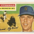 1956 Topps baseball card #198 Ed Fitzgerald VG/EX Washington Nationals