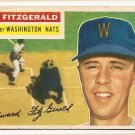 1956 Topps baseball card #198 (B) Ed Fitzgerald VG Washington Nationals