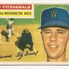 1956 Topps baseball card #198 (C) Ed Fitzgerald VG Washington Nationals