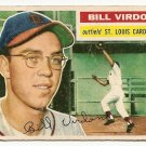1956 Topps baseball card #170 Bill Virdon VG St. Louis Cardinals