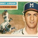 1956 Topps baseball card #136 Johnny Logan EX Milwaukee Braves