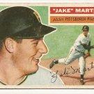 1956 Topps baseball card #129 Jake Martin VG Pittsburgh Pirates