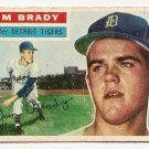 1956 Topps baseball card #126 (B) Jim Brady good (crayon marks on back) Detroit Tigers