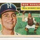 1956 Topps baseball card #131 Bob Roselli good (ink marks) Milwaukee Braves
