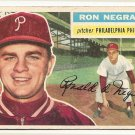 1956 Topps baseball card #7 Ron Negray good (crayon marks on back) Philadelphia Phillies