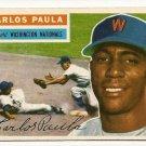 1956 Topps baseball card #4 Carlos Paula EX Washington Nationals
