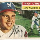 1956 Topps baseball card #76 Ray Crone G- Milwaukee Braves