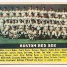 1956 Topps baseball card #111 Boston Red Sox team EX