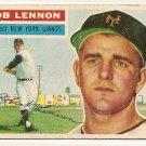 1956 Topps baseball card #104 (B) Bob Lennon good (crayon marks on back) New York Giants