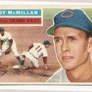 1956 Topps baseball card #123 Roy McMillan EX/NM Cincinnati Reds